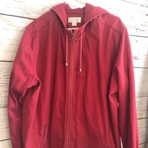 Cj banks red coat with hood